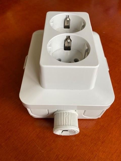 Kabeldoos met tweevoudig stopcontact